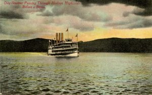 NY - Hudson Highlands. Day Steamer Before A Storm