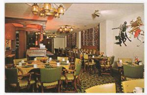 Avalon Motor Inn Restaurant Interior Waukesha Wisconsin postcard