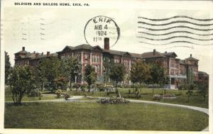 Soldiers and Sailors Home - Erie PA, Pennsylvania - pm 1924 - WB