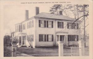 Massachusetts Concord Home Of Ralph Waldo Emerson Essayist And Poet