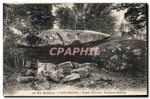 Old Postcard Dolmen Megalith Morvan Saint Brisson Dolmen Chevresse Monument d...