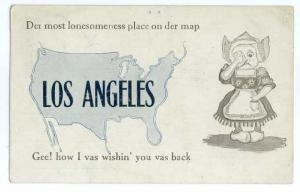Gee! How  Vas Wishin' You Vas Back, Los Angeles, CA, 1913 Divided Back