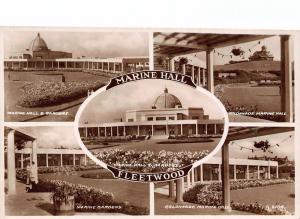 Marine Hall Fleetwood Marine Hall Gardens Colonnade Postcard