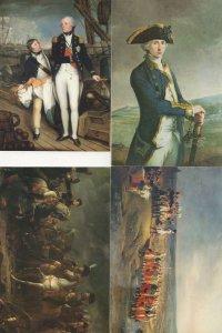 Nelson Napoleon National Portrait Gallery 4x Military Postcard s
