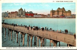 New Jersey Atlantic City View From Young's Pier Curteich