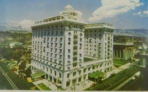 Hotel Utah Salt Lake City Unposted Written On Chrome Vintage Postcard