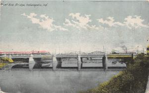 Indianapolis Indiana~River Avenue Bridge~c1912 Postcard