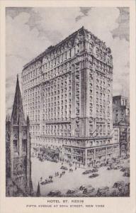 New York City Hotel Saint Regis Fifth Avenue At 55th Street Albertype