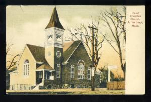 Amesbury, Massachusetts/MA/Mass Postcard, Point Christian Church