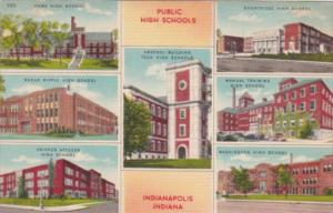Indiana Indianapolis Multi Views Of Public High Schools
