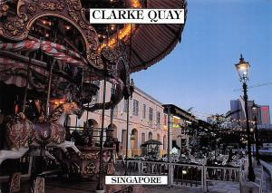 Singapore Clarke Quay Shopping Area Restaurants River