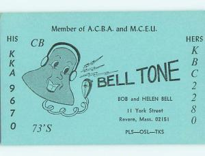 comic - QSL HAM RADIO CARD Revere Massachusetts MA t0876