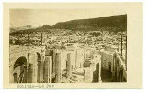 RP,View Overlooking A Section Of The City, Uncompleted Tower Of The Cathedral...