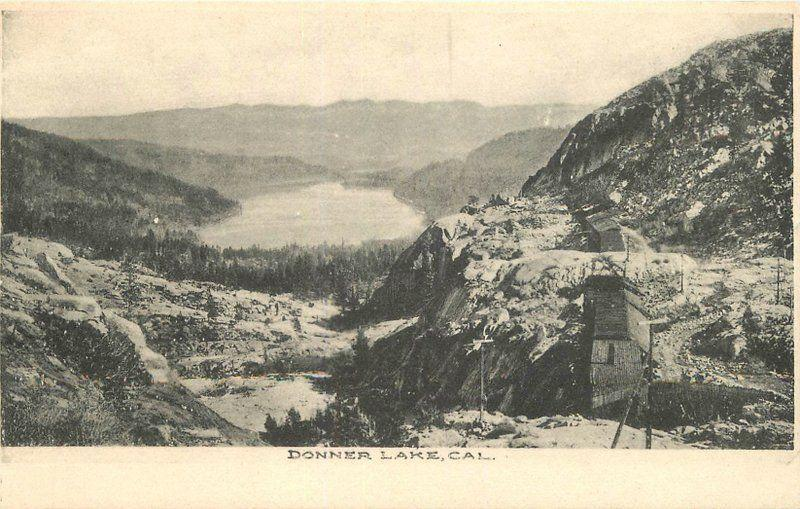 Birdseye View C-1910 Donner Lake California postcard 9557