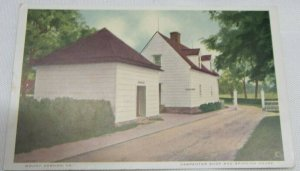 1920 VINTAGE POSTCARD Carpenter Shop and Spinning House, Mount Vernon, Virginia