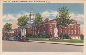 Town Hall and Noah Webster Statue, West Hartford, Connecticut, 30-40's