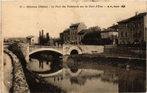 CPA GIVORS Le Pont des Faineants sur la Gare d'Eau (462443)