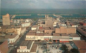 Corpus Christi Texas T Heads Airview Colorpicture Cole's Office Postcard 21-5997