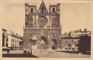 France Lyon La Cathedrale Saint-Jean 1937