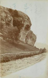 Stone Wall Along Road Next To Mountain~Grimshawe's of Yorkshire RRPC c1910