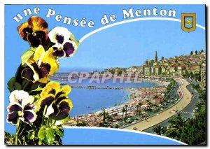 Postcard A Modern Thought Menton Alpes Maritimes General view