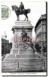 Old Postcard Milano Monumento a Giuseppe Garibaldi