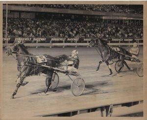 ROOSEVELT RACEWAY, MARC STERLING Wins Harness Horse Race, 1970