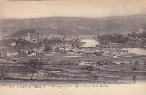 CHATEAU-THIERRY, Panorama de la Ville et Vallee de la Marne,  Aisne, France, ...