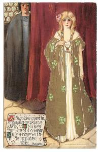 Unsigned Samuel Schmucker Fairy Queen Series Rossetti Poem