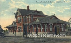 Pennsylvania RR Station, Hamilton, OH, Ohio, USA Depot Railroad 1913