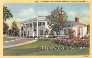 Residence of Bing Crosby North Hollywood, CA, USA Unused