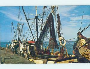 Pre-1980 HARBOR SCENE Port Isabel & South Padre Island by Brownsville TX hp7520