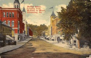 Kittanning Pennsylvania Market Street Scene Antique Postcard K107106