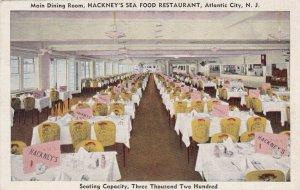 New Jersey Atlantic City Hackney's Seafood Restauarant Dining Room 1947 sk4867