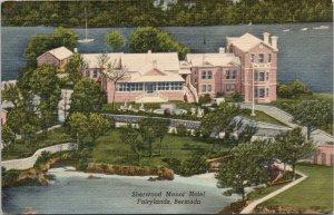 Sherwood Manor Hotel Fairylands Bermuda c1951 Linen Yankee Store Postcard F98