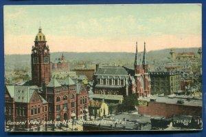 General View of Birmingham Alabama al old postcard