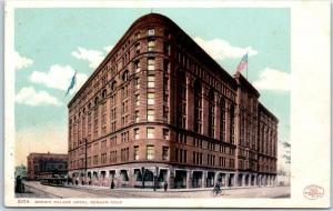 Denver, Colorado Postcard BROWN PALACE HOTEL Street View Detroit Pub. C1900s