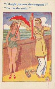 Comic Postcard Garland, Rudolf & Co. W108, Seaside Joke, Humour KL3