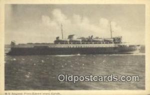 MV Abegwett Prince Edward Island, Canada Steam Ship Postcard Post Cards  MV A...