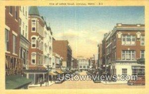 Lisbon Street in Lewiston, Maine