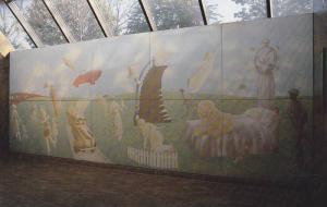 Subway Art , Toronto , Ontario , Canada , 50-60s ; Porcelain enamel mural