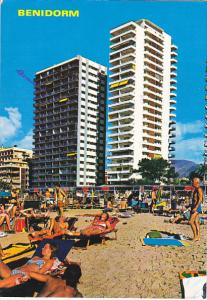 Beach Scene Benidorm Alicante Spain