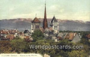 Geneve Swizerland, Schweiz, Svizzera, Suisse Tours de St Pierre  Tours de St ...