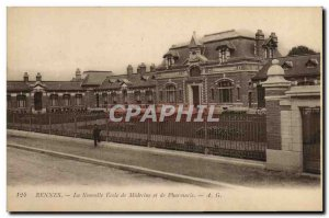 Old Postcard Rennes New School of Medicine and Pharmacy