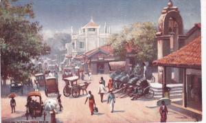 CEYLON, Sri Lanka, 1900-1910's; Pettah Road Scene