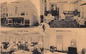 Littleton New Hampshire Lee's Hotel Multiview Vintage Postcard JB626865