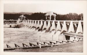Oregon View Of Bonneville Dam  Columbia River Highway Real Photo