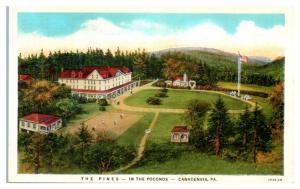Mid-1900s The Pines in the Poconos, Canadensis, PA Postcard