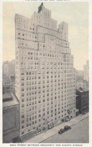 New York City , 1930s-40s ; The DIXIE Hotel