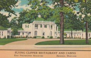 ABERDEEN , Maryland, 1930-40s; Flying Clipper Restaurant & Cabins